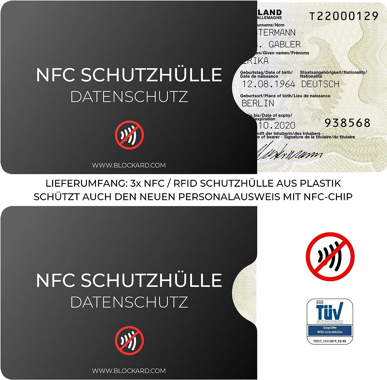 100/% protezione contro la lettura illecita carta didentit/à NFC Custodia carta didentit/à 3 pezzi in plastica per carte di credito carte di credito RFID Blocker carta di credito