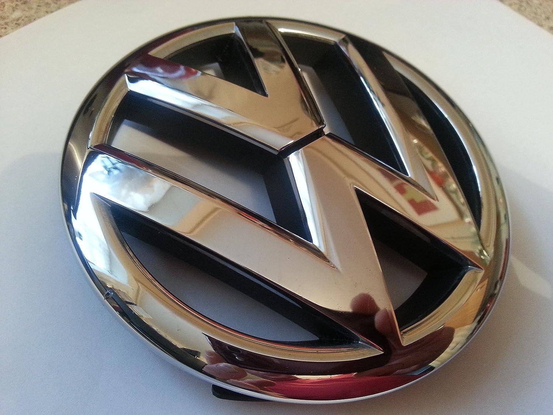 Schwarz Chrom Embelem Vw Volkswagen Vw Logo Car Cars Grill Passend FÜr 13 Cm Auto