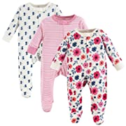 Touched by Nature Baby Organic Cotton Sleep and Play, Garden Floral, 6-9 Months (9M)