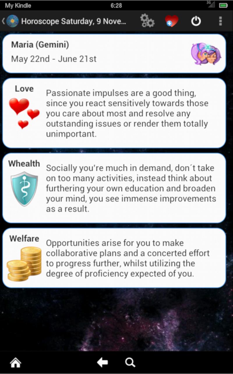 Horoscopo Pro: Amazon.es: Appstore para Android