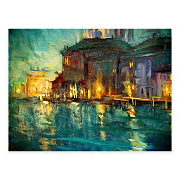 Abstract evening all weather outdoor canvas wall art