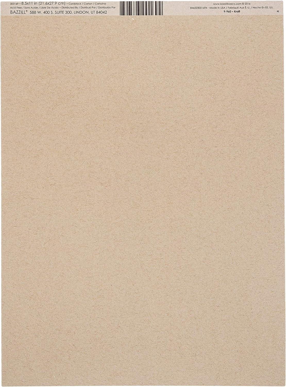Bazzill Basics Paper 9-960 10007604 Cardstock Kraft 8.5X11 by Bazzill Multicolor