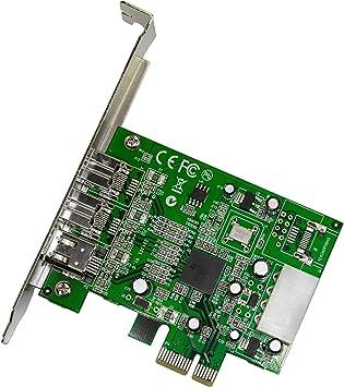 StarTech.com 3 Port 2b 1a 1394 PCI Express FireWire Card Adapter - 1394 FW PCIe FireWire 800 / 400 Card (PEX1394B3)