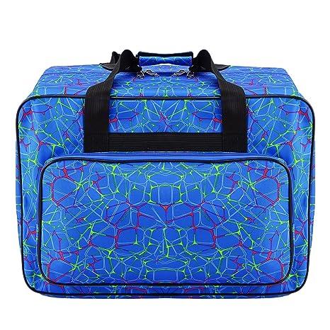 Bolsa de lona impermeable para máquina de coser de gran capacidad, bolsa de almacenamiento para máquina de coser, bolsa de mano portátil para viaje, ...