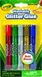 Crayola; Washable Glitter Glue; Art Tools; 5 ct.; 5 Sparkly Colors; Great for Arts and Crafts, Great for sparkle slime, decorating projects