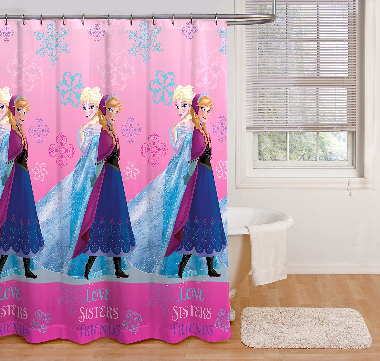 Disney Frozen Snowflake Sisters Shower Curtain
