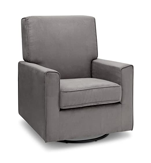 Delta Children Ava Nursery Glider Swivel Rocker Chair, Graphite
