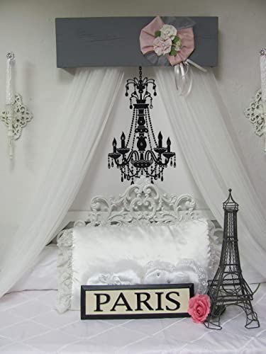 Amazon Com Shabby Chic Princess Bed Crown Canopy Crib Baby Nursery