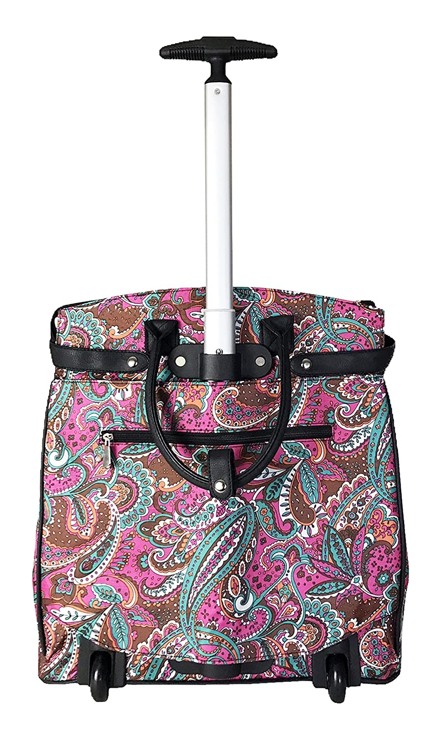 19 Computer//laptop Bag Tote Duffel Rolling Wheel Padded Case Silver Zebra Private