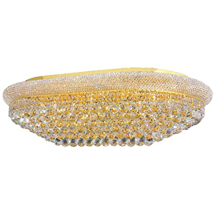 Worldwide Lighting Empire Collection 24 Light Gold Finish and Clear ...