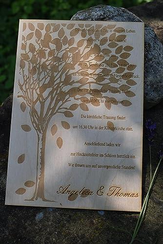 13 5 X 20 Cm Holz Einladung Hochzeitseinladung Hochzeitskarten