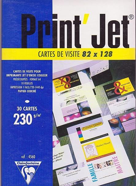 Printjet Carte De Visite 82X128 Pour Imprimante Jet Dencre Couleur Amazonfr Fournitures Bureau