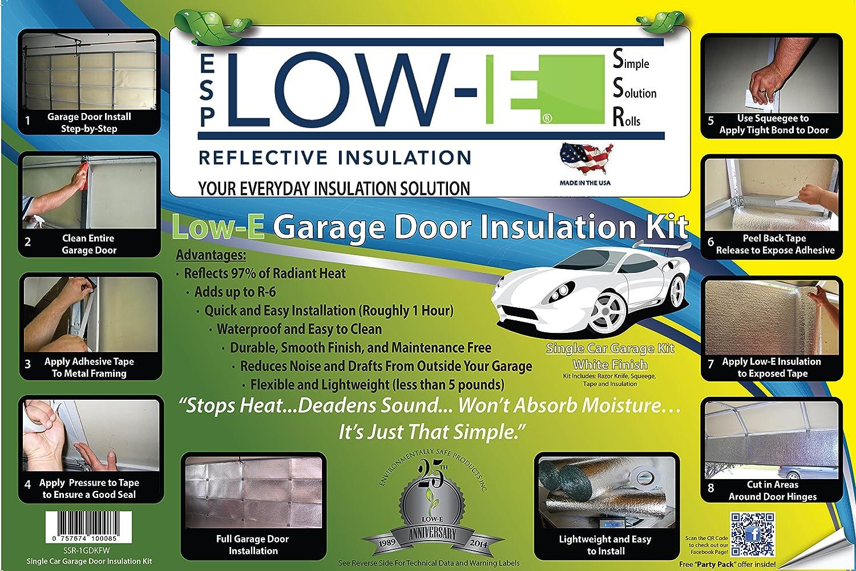 Esp low e ssr one car garage door9x7 insulation kit white esp low e ssr one car garage door9x7 insulation kit white interior finishincludes esp low e reflective foam core insulation 70 sq ft rubansaba