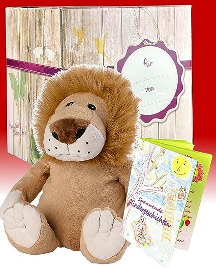 Set de regalo Warmies - León de peluche de osito de peluche con aroma de lavanda