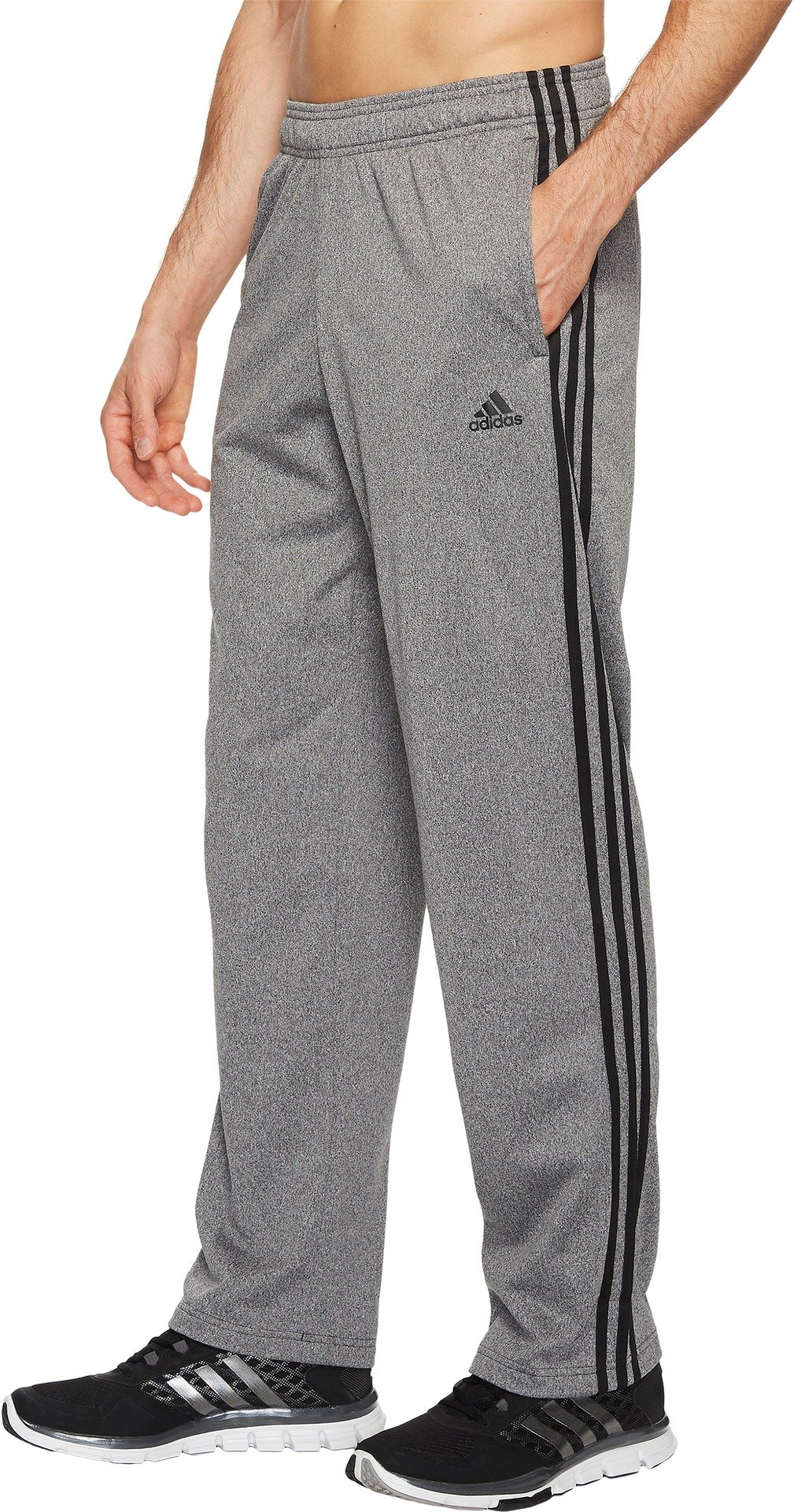 adidas Men's Essentials 3-Stripes Regular Fit Tricot Pants DGH Solid Grey/Black XX-Large S