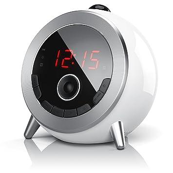 Brandson - Despertador con Radio FM Retro Despertador-proyector ...