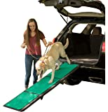 Pet Gear Travel Lite Ramp with supertraX Surface for Maximum Traction, 4 Models to Choose from, 42-71 in. Long, Supports 150 -200 lbs, Find the Best Fit for Your Pet