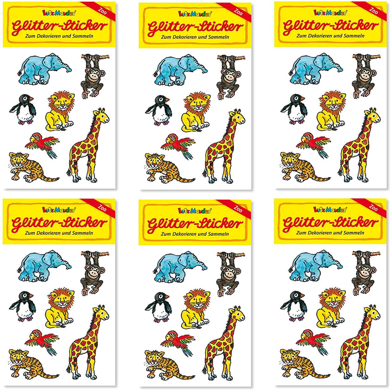 6 x Glitzer Giraffen ┃ Radierer ┃ Kindergeburtstag ┃ German Trendseller®