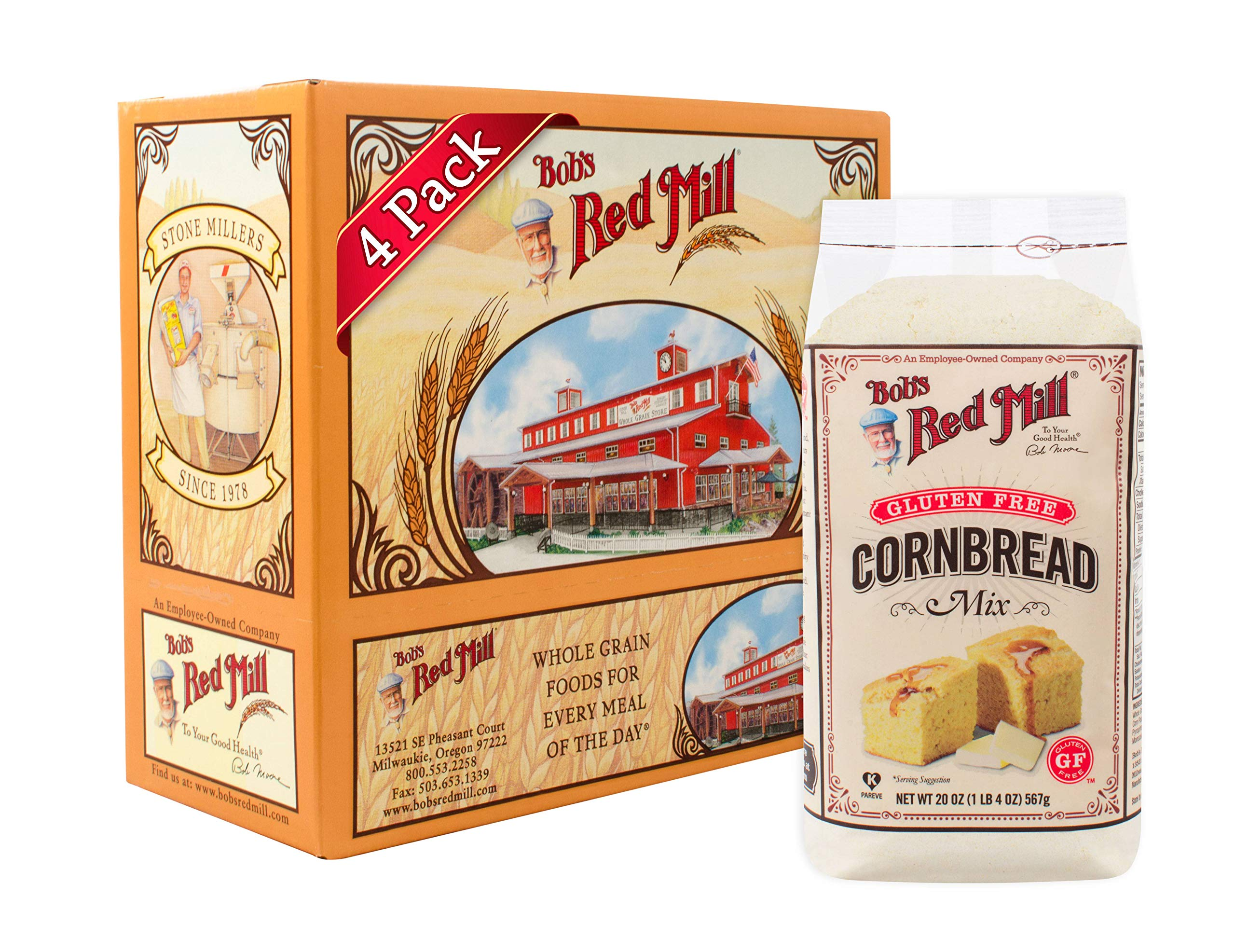 Bob's Red Mill Gluten Free Cornbread Mix, 20 Oz (Pack of 4) by Bob's Red Mill