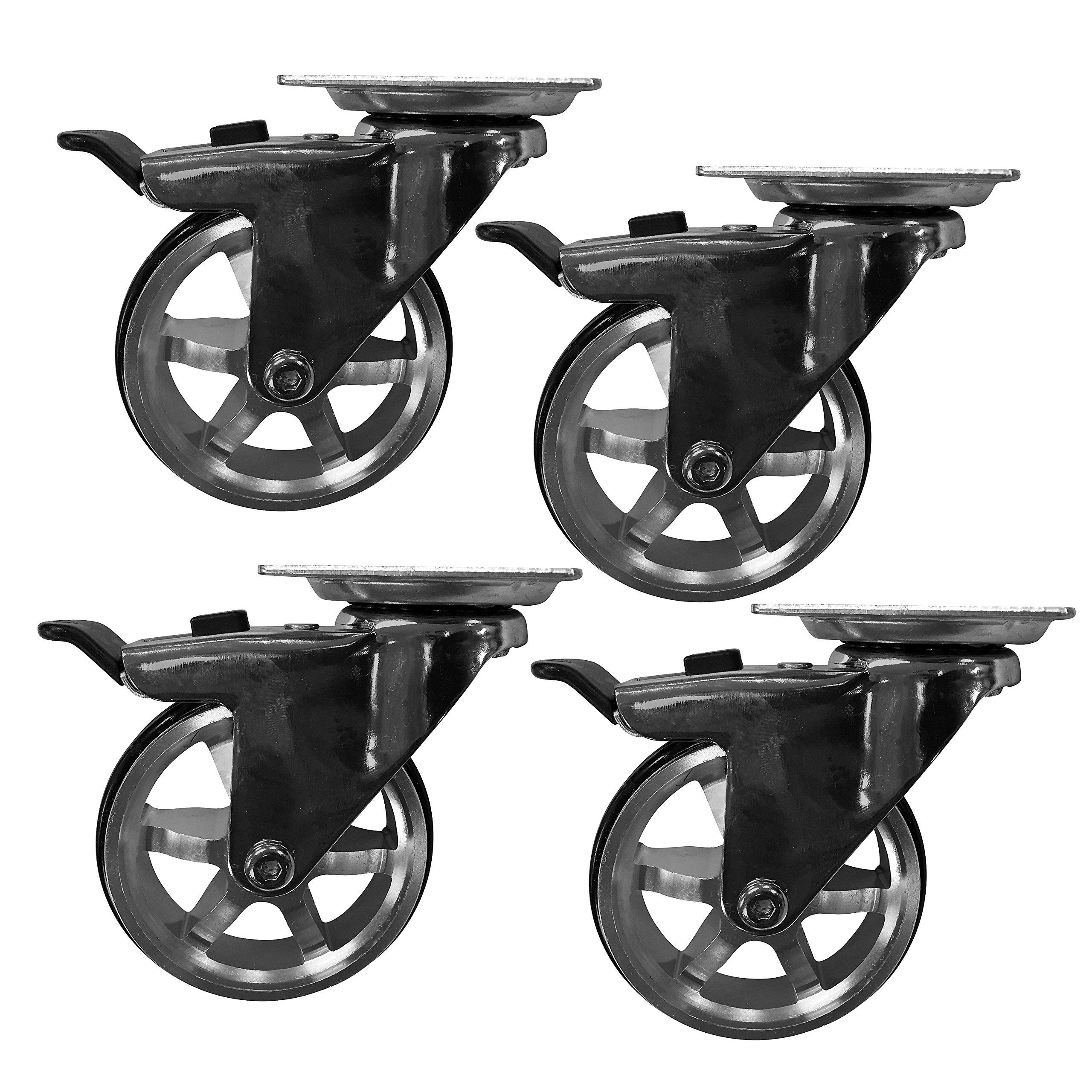 Headbourne 8295E Designer Casters 3 inch Machined