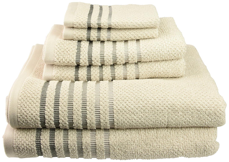 Caro Home 6SOS-1413-T4-231 Maggie 6-Piece Cotton Bath Towel Set