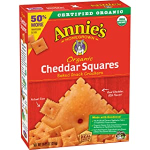 Annie's Organic Cheddar Squares Baked Snack Crackers, 11.25 oz