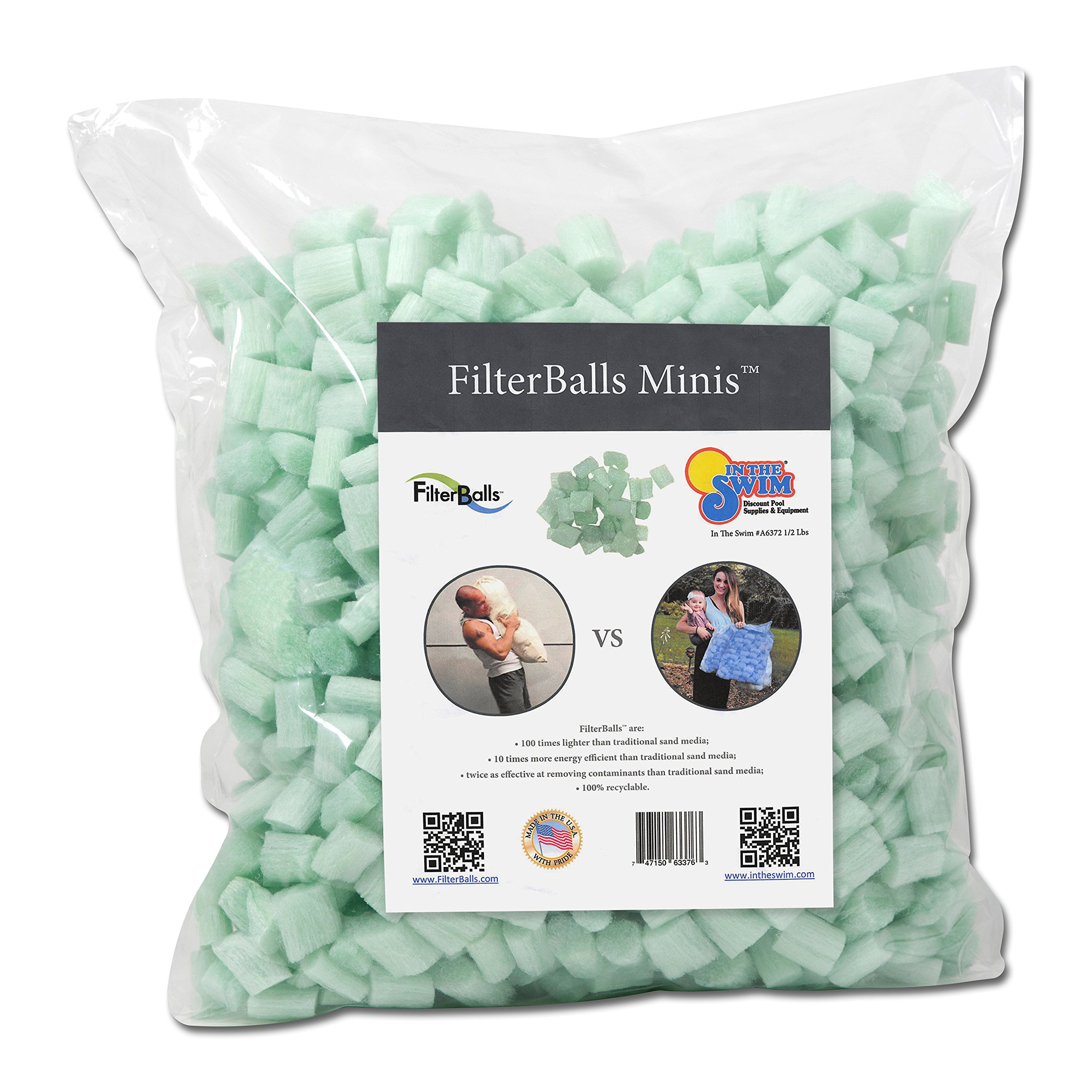 In The Swim FilterBalls Minis Advanced Sand Pool Filter Media, 1/2 Pound by In The Swim (Image #1)