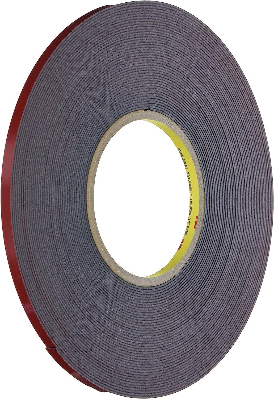 "3M 06386 Scotch-Mount Double-Coated Automotive Acrylic Foam Tape 1//4/"" x 20 Yards"