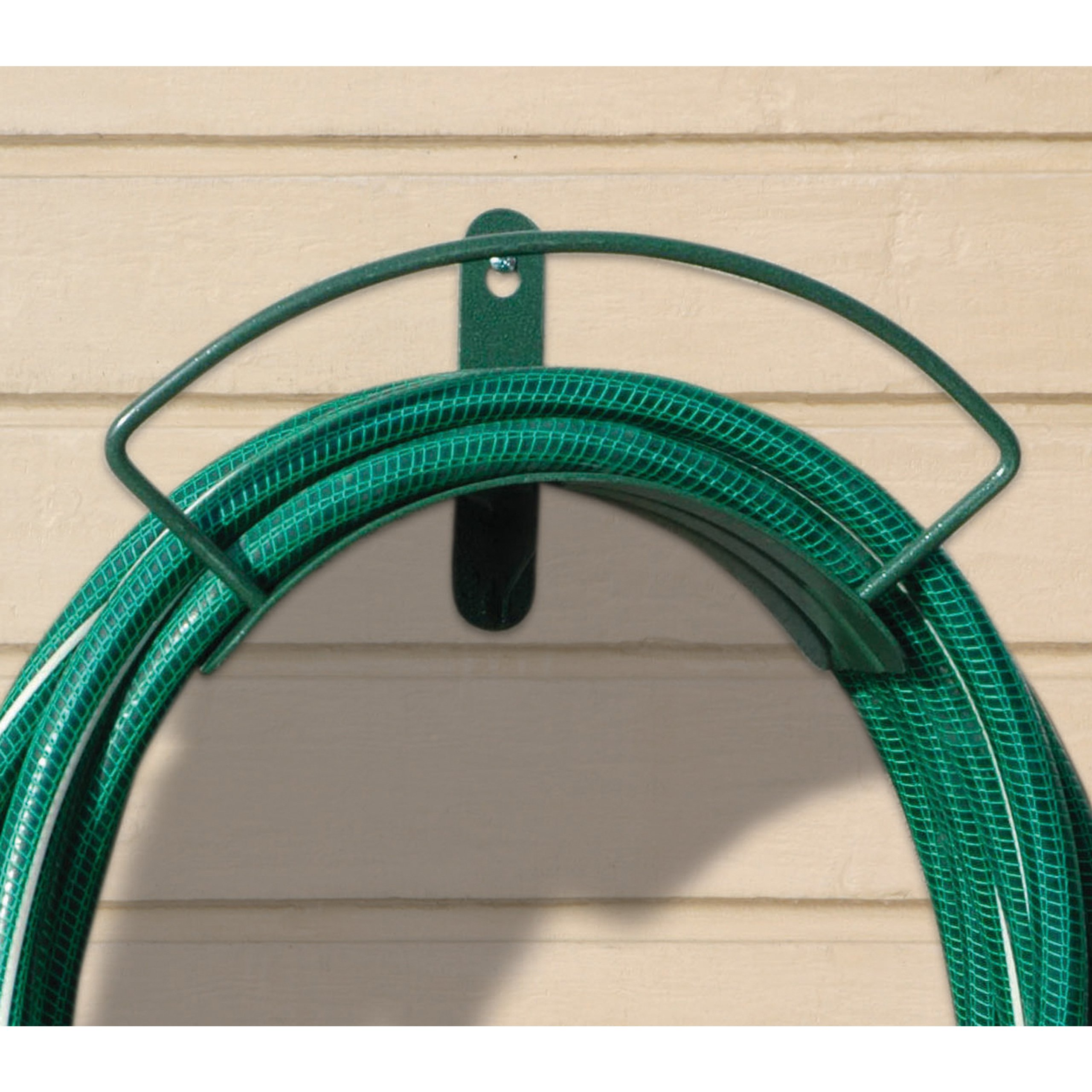 Yard Butler Deluxe Heavy Duty Wall Mount Hose Hanger Easily Holds 100' Of 5/8' Hose Solid Steel Extra Bracing And Patented Design In and DECORATIVE DESIGNS IHCWM-1 Textured Forest Green by Yard Butler (Image #4)