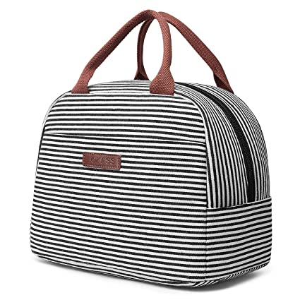 LOKASS Lunch Bag Cooler Bag Women Tote Bag Insulated Lunch Box Water-resistant Thermal Lunch Bag Soft Leak Proof Liner Lunch Bags for ...