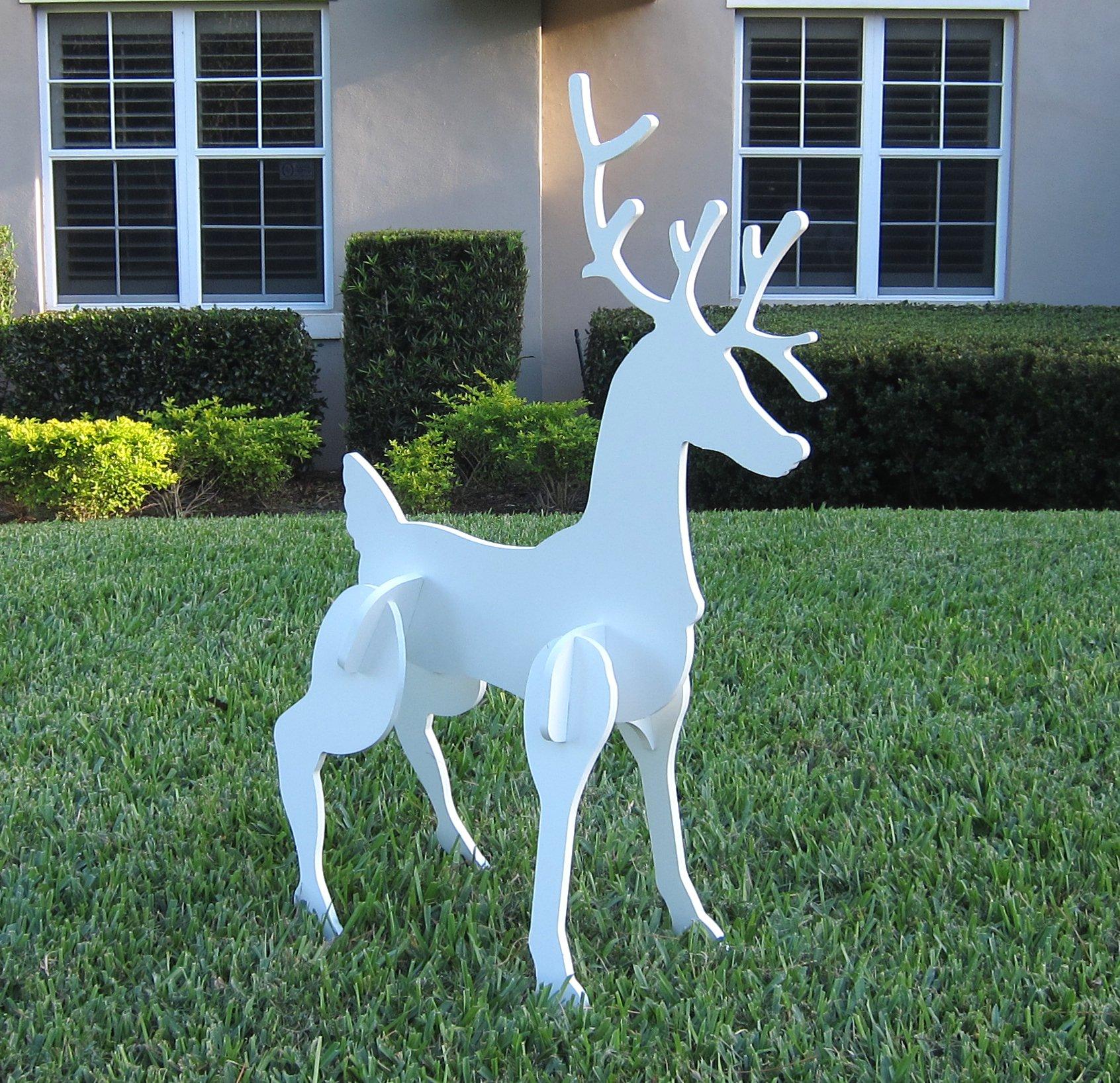 Christmas Outdoor Santa Sleigh and 2 Reindeer Set by Teak Isle (Image #4)