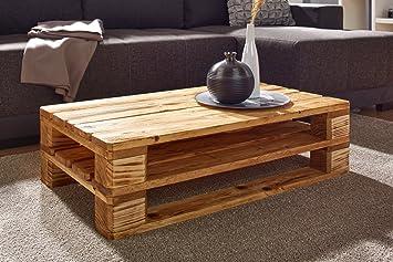 Palettentisch Für Ihr Wohnzimmer Couchtisch Aus Fichten Holz Im