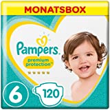 Pampers Premium Protection, Gr.6, Extra Large, 13-18kg, Monatsbox, 1er Pack (1 x 120 Stück)