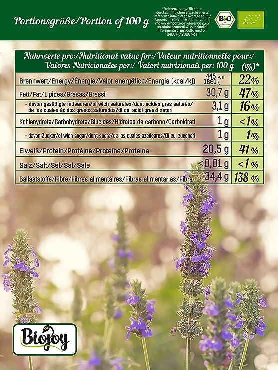 Biojoy Semillas de Chia Organicas, Salvia hispanica (1 kg)