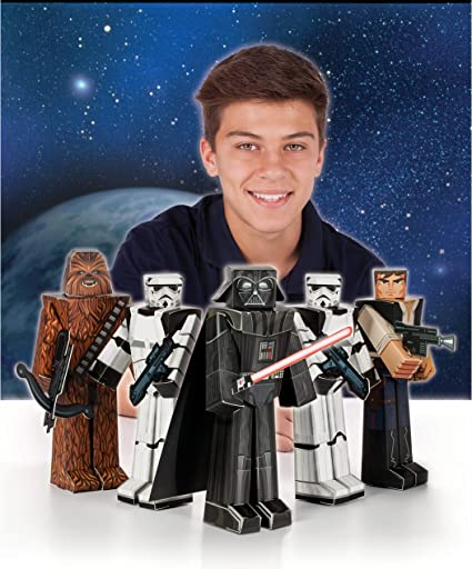 Party Supplies Star Wars Heroes and Villains Blueprints Paper Craft 5 Count