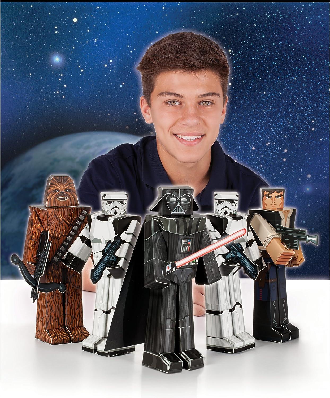 "2 packs of Star Wars 5 Figures Heroes /& Villains 6/"" Blueprints Papercraft"