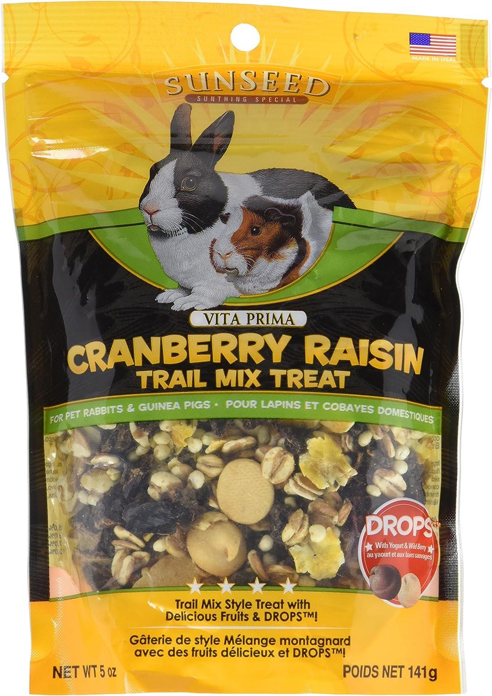 Sunseed Company 36031 Cranberry Raisin Vita Prima Trail Treat For Rabbits And Guinea Pigs, 5 Oz