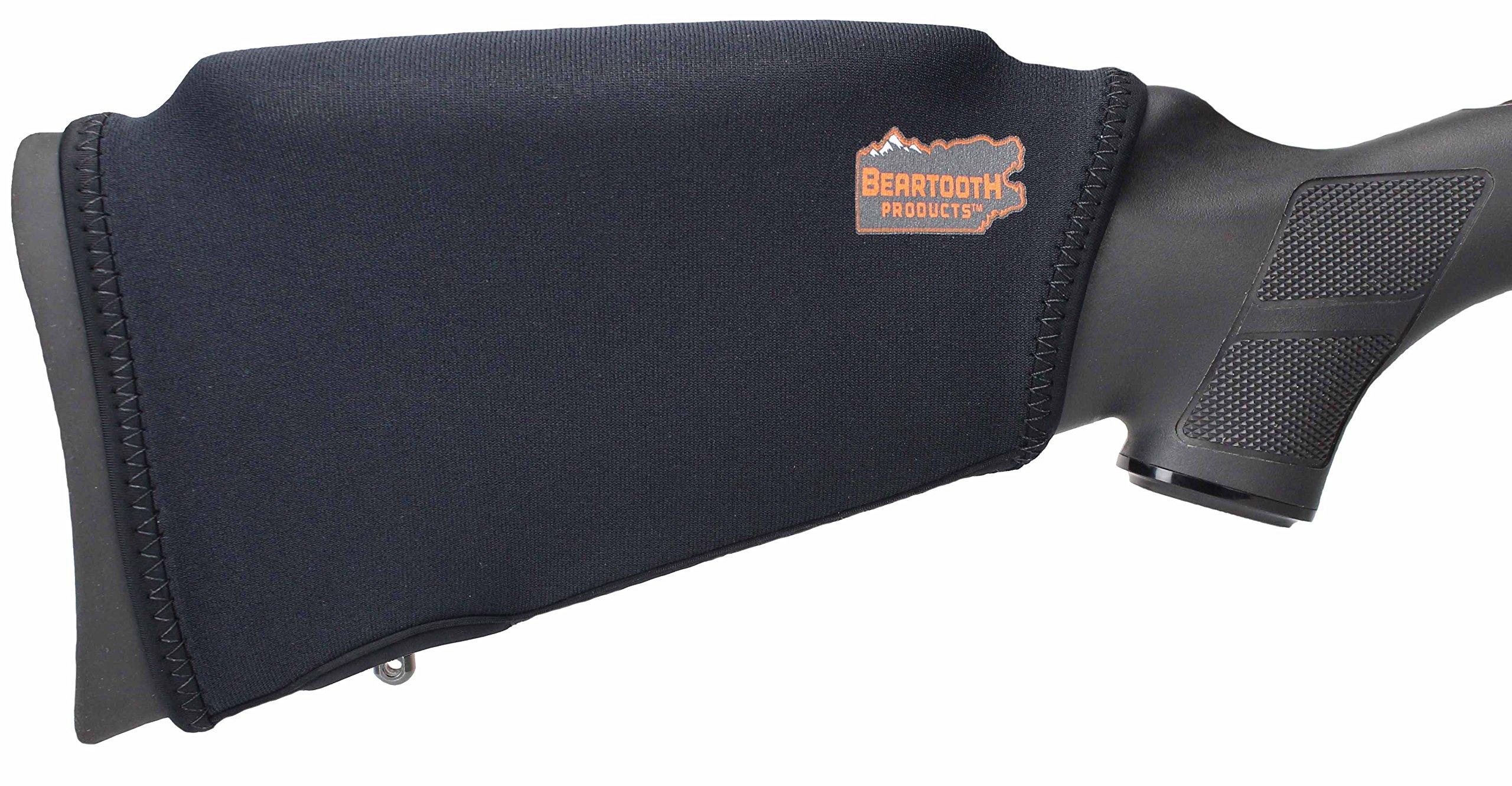 Beartooth Comb Raising Kit 2.0 - Premium Neoprene Gun Stock Cover + (5) Hi-density Foam Inserts - NO LOOPS MODEL (Black)