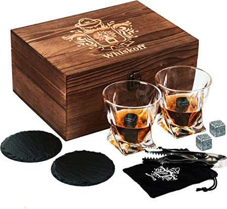 ELEGANTE Y ÚNICO APARATO DE BARRAJE: Hecho de vidrio seguro de alta calidad para beber bourbon, whis