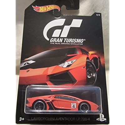 Hot Wheels 2016 Gran Turismo Lamborghini Aventador LP 700-4 8/8, Orange: Toys & Games