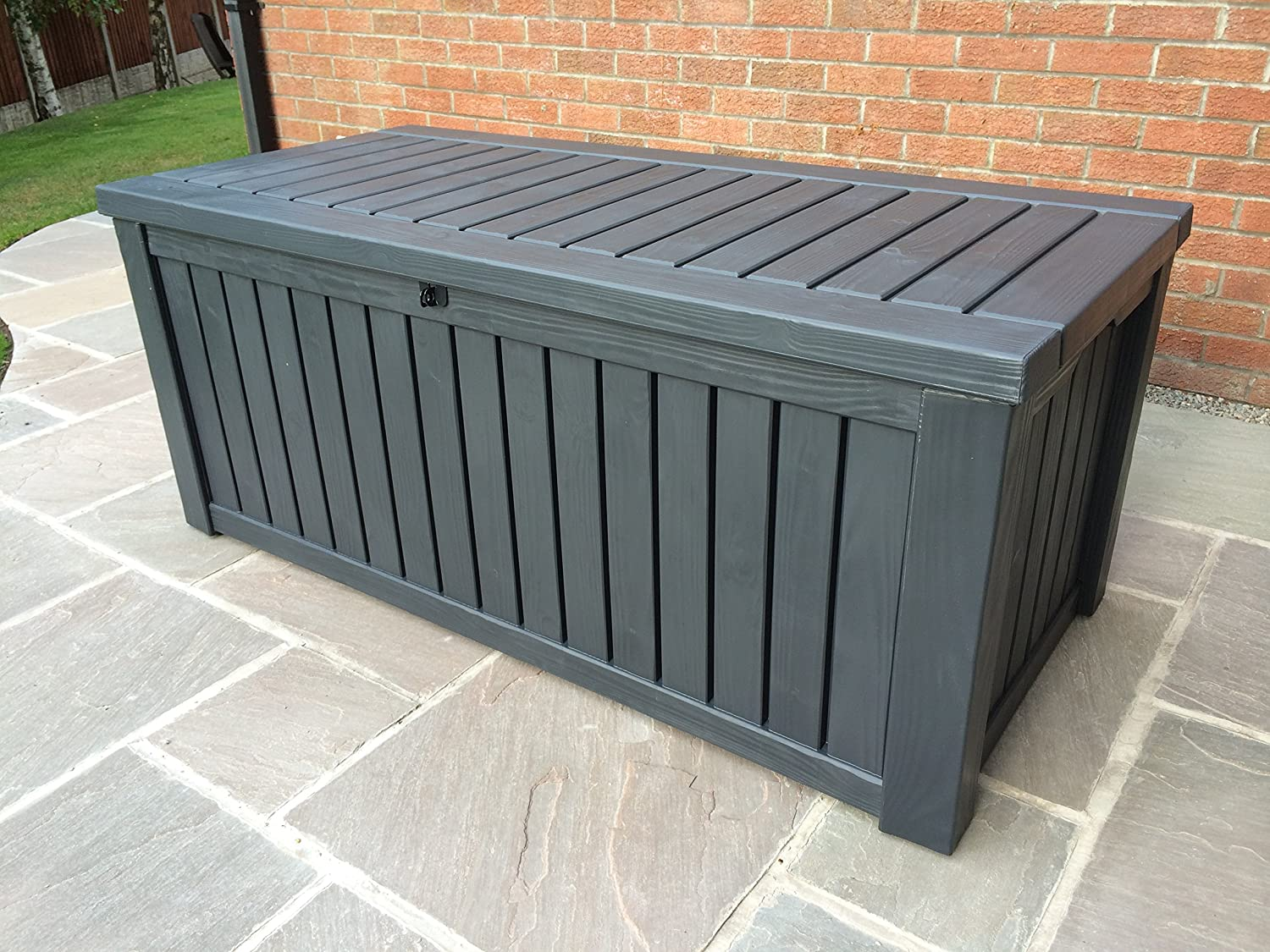 Keter Anthracite Rockwood Jumbo XL Storage Box 570 Litres: Amazon.co.uk:  Business, Industry U0026 Science