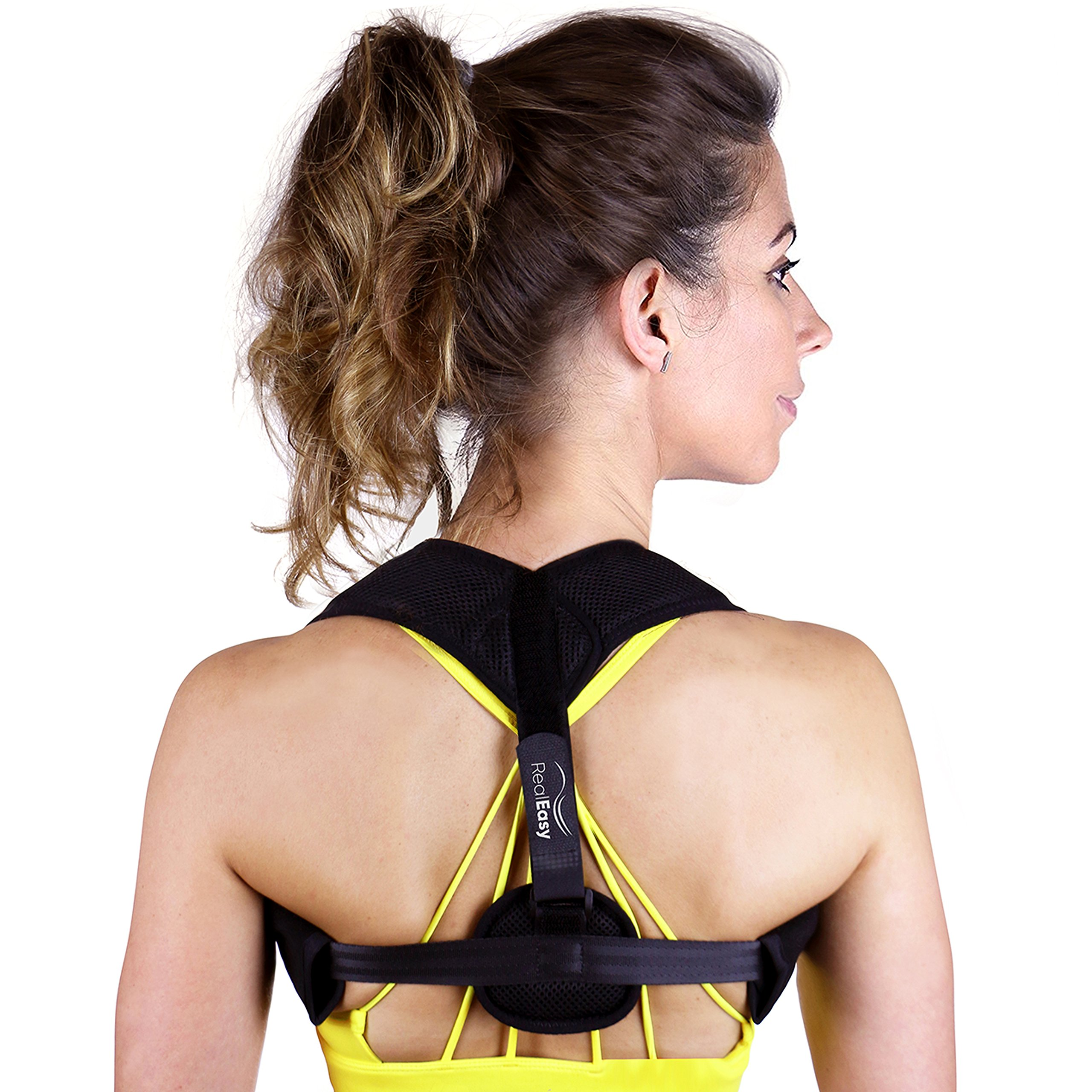 Posture Corrector for Women & Men | Convenient Posture Brace for Slouching & Hunching | Breathable Back Brace for Posture Support - Improve Posture, Prevent Slouching, Reduce Neck & Back Pain