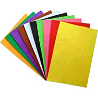 Anshartandcraft Felt sheet: A4 size 10 Pcs (Felt Sheet Multi 1MM)