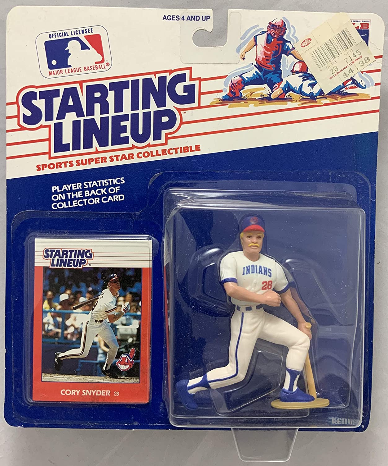 1988 KENNER STARTING LINEUP MLB CORY SNYDER CLEVELAND INDIANS MOC