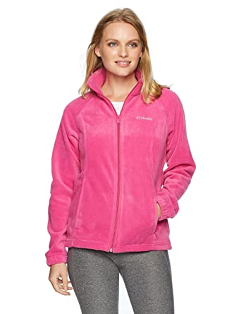 4571a5b328db7 Columbia Women's Petite Benton Springs Full Zip Jacket, Fuchsia, Small