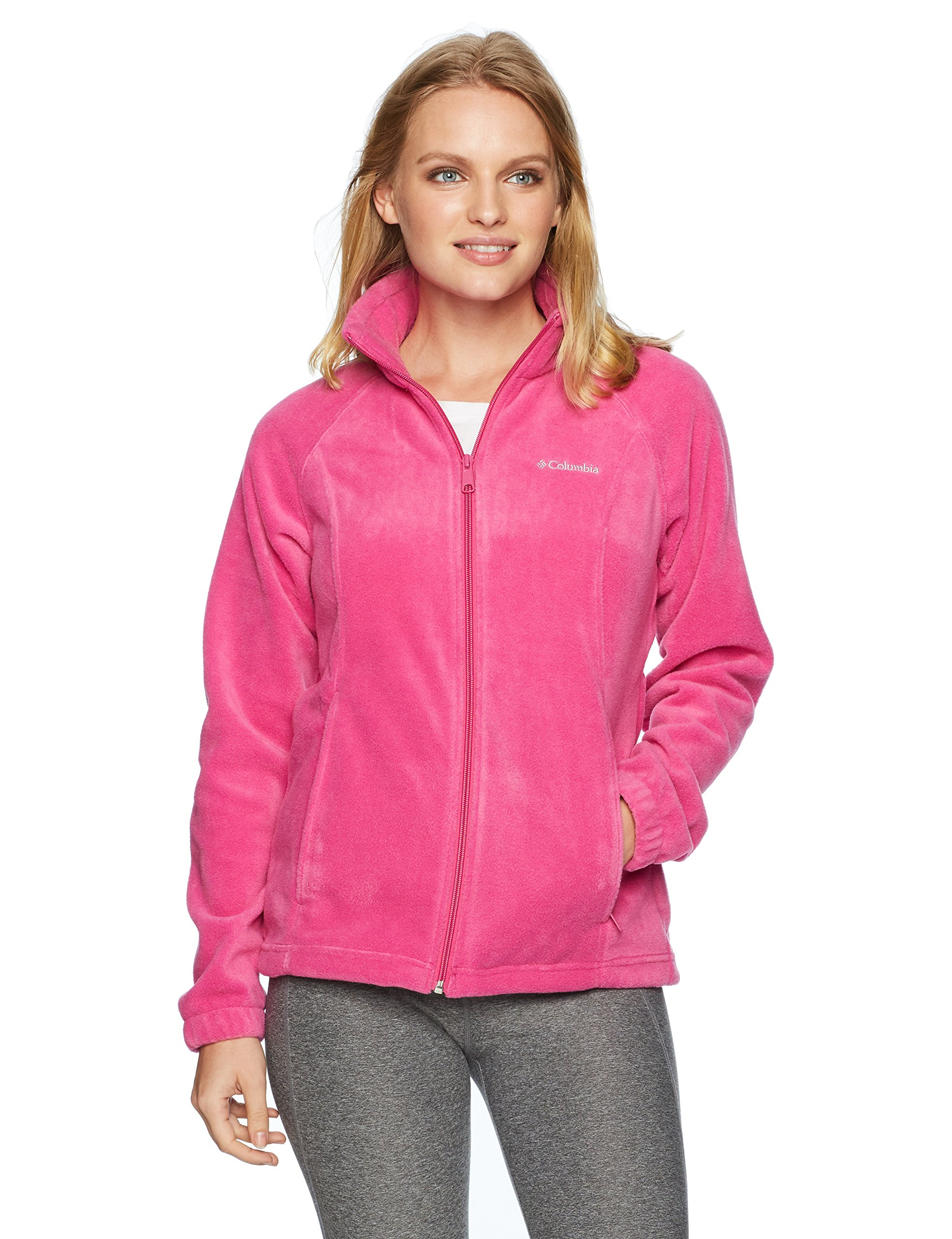 Columbia Women's Petite Benton Springs Full Zip Jacket, Fuchsia, PXL