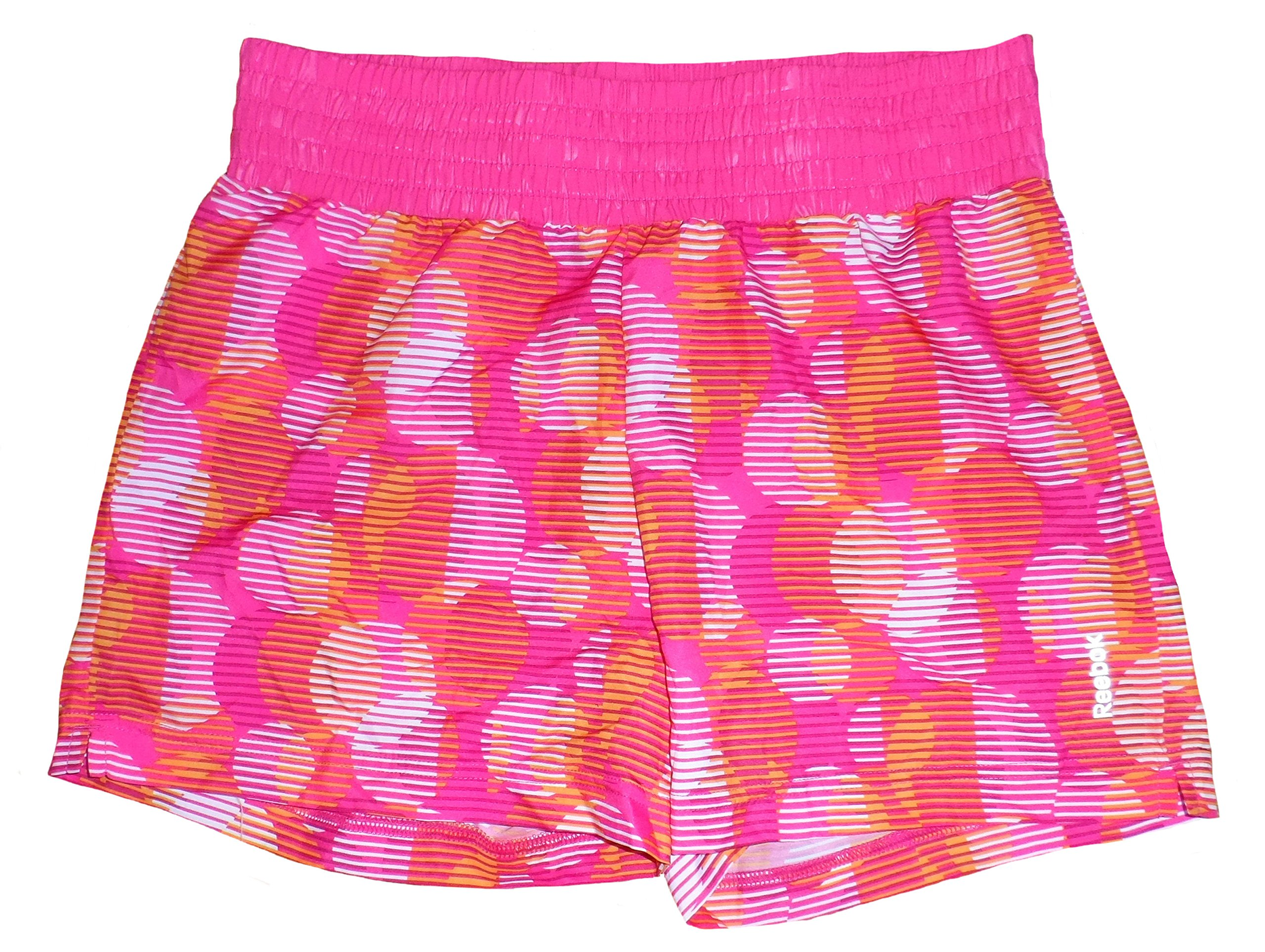 Reebok Big Girls' Running Shorts (Large) Pink/Orange