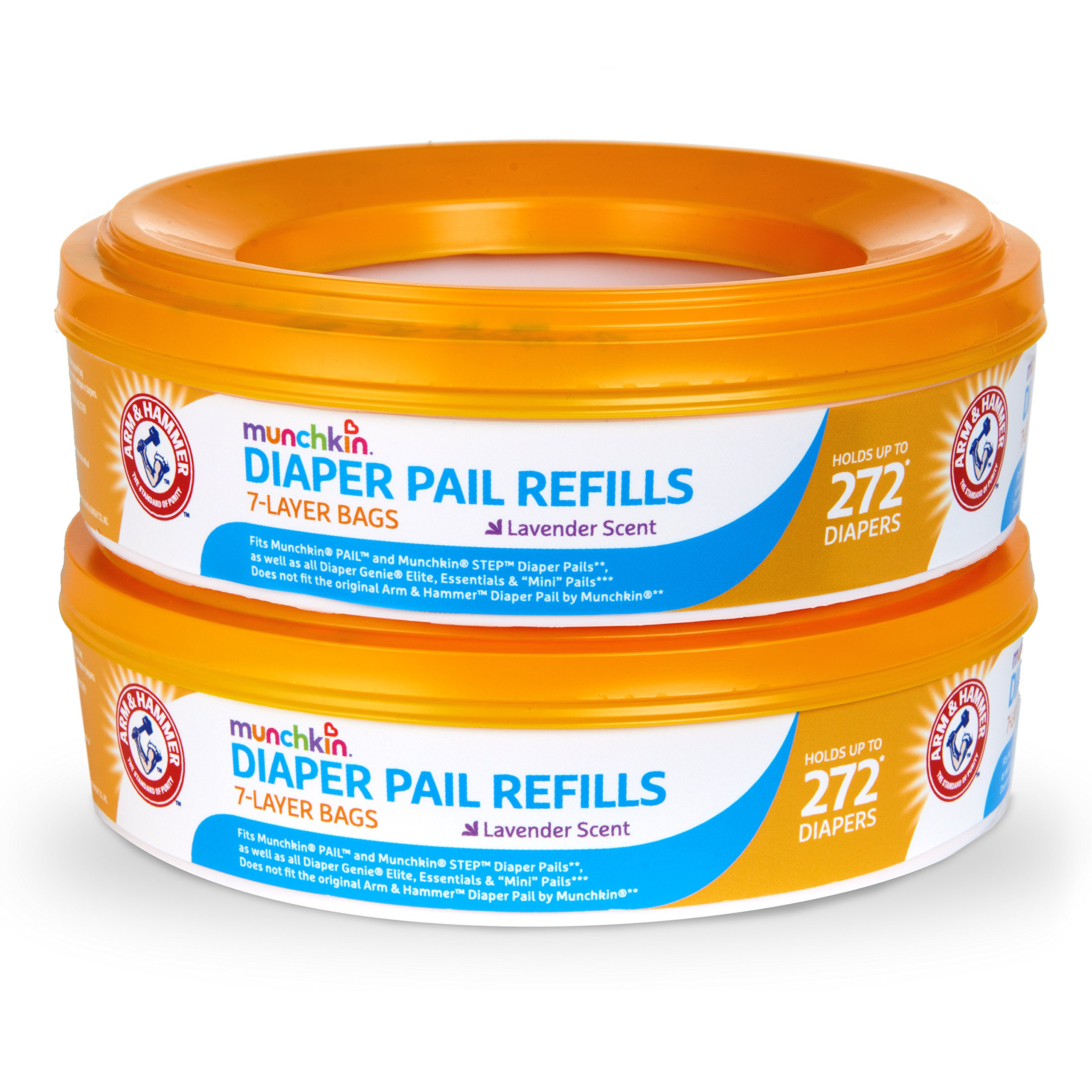 Munchkin Arm and Hammer Diaper Pail Refill Rings, 544 Count by Munchkin