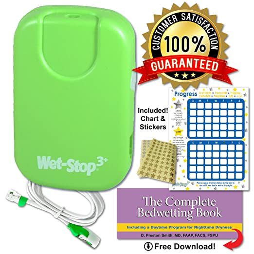 Wet-Stop 3 Bedwetting Alarm (Green) 6 Alarms & Vibration