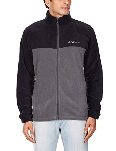 Columbia Men's Steens Mountain Full Zip 2.0 Fleece Jacket, Black/Grill, Medium